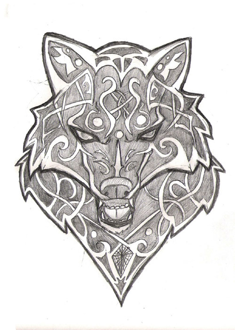Celtic Wolf Tattoo