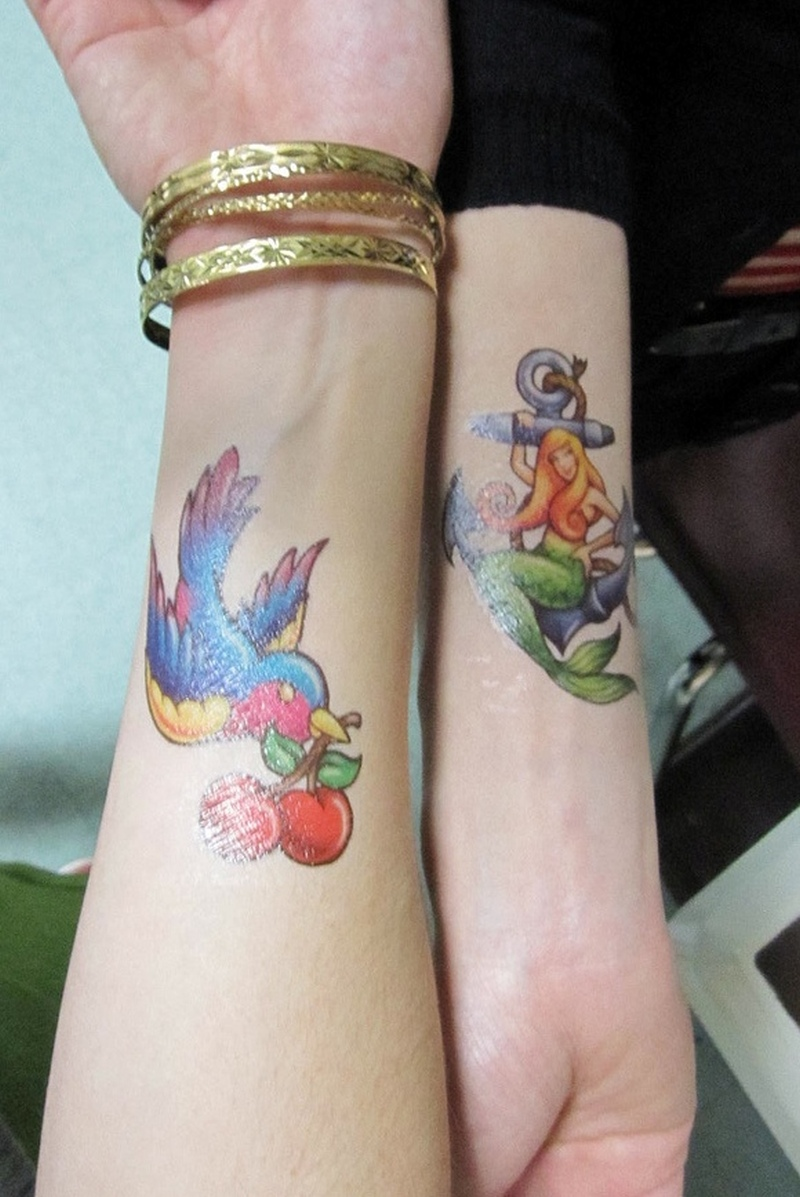 Cherry And Star Tattoos