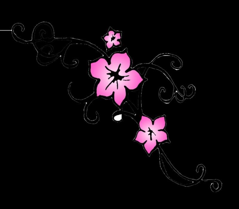Cherry blossom flower outline