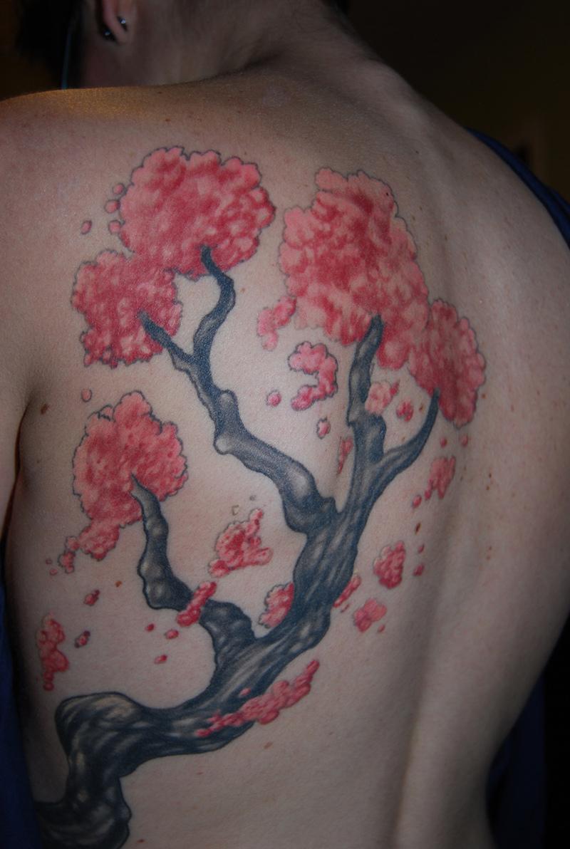 Cherry Blossom Tree Tattoos Designs