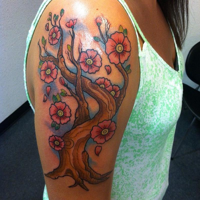 Cherry Tree Tattoo Guy Tattoos Book 65 000 Tattoos Designs