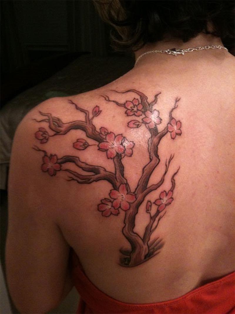 Cherry Tree Tattoo Men