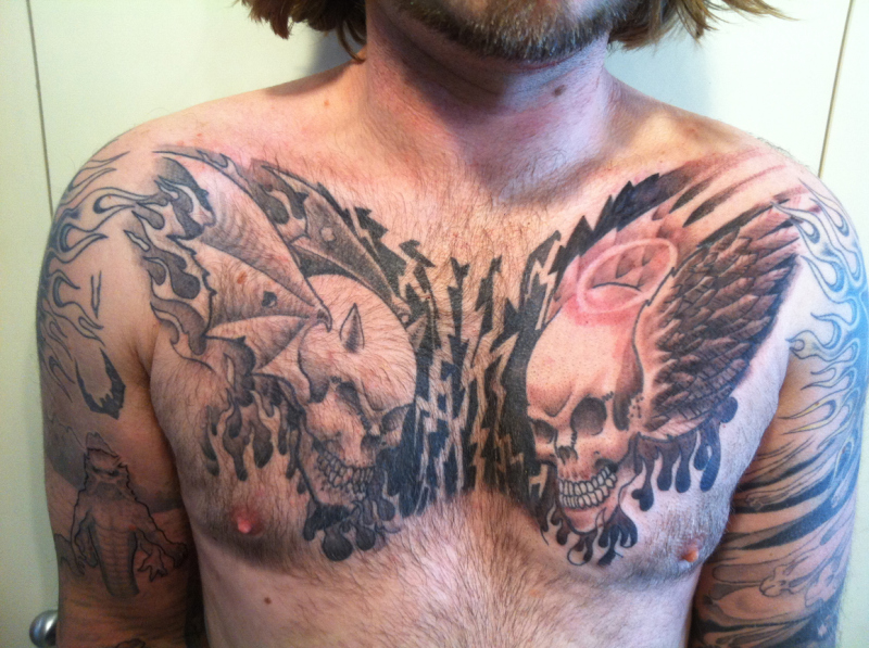 Chest Piece Tattoos For Femaless