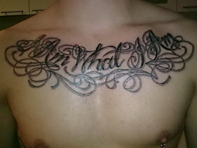 Chest Quote For Girls tattoo - Tattoos Book - 65.000 Tattoos ...