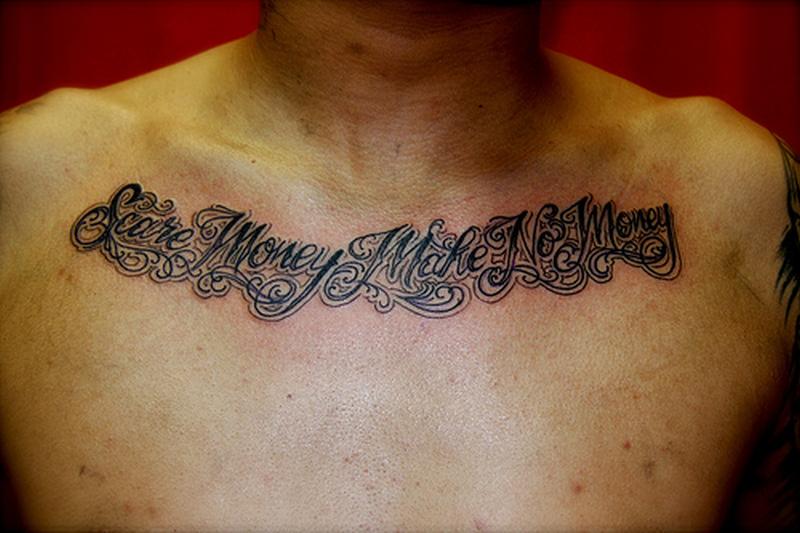 Chest Script Tattoo Quotes