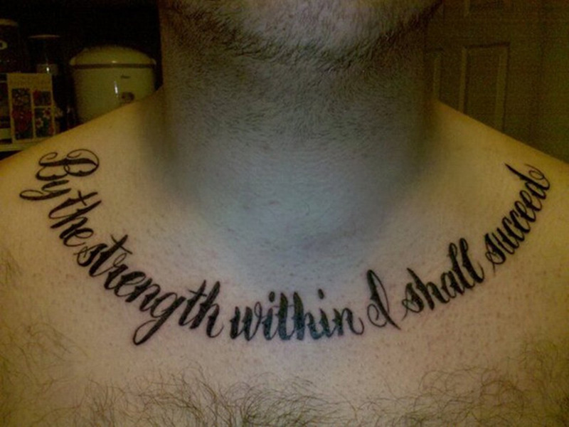 Chest Tattoo Quotes For Guys Tattoos Book 65000 Tattoos Designs