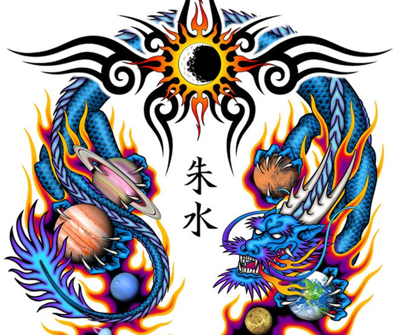 Chinese Dragon Tattoo Wallpaper