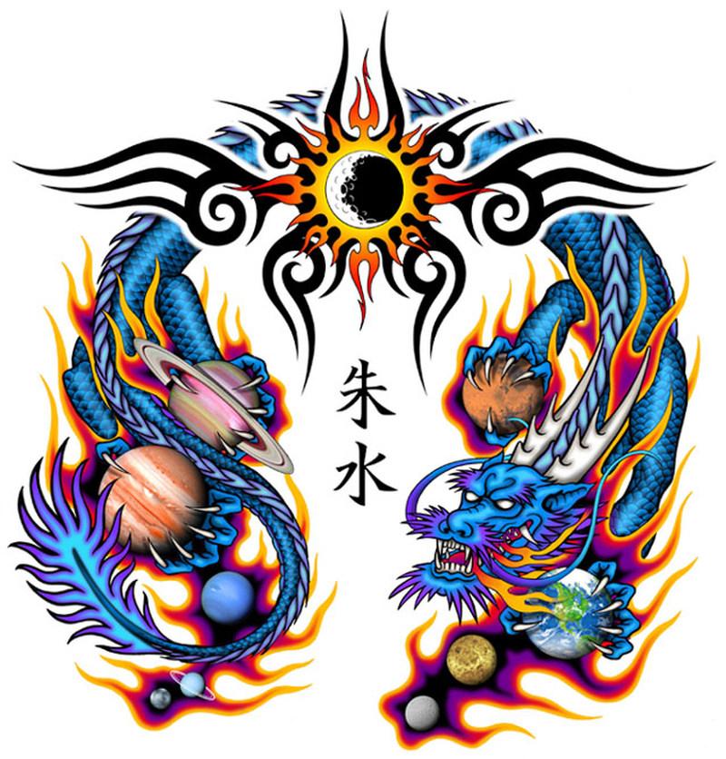 Chinese Dragon Tattoo Wallpaper