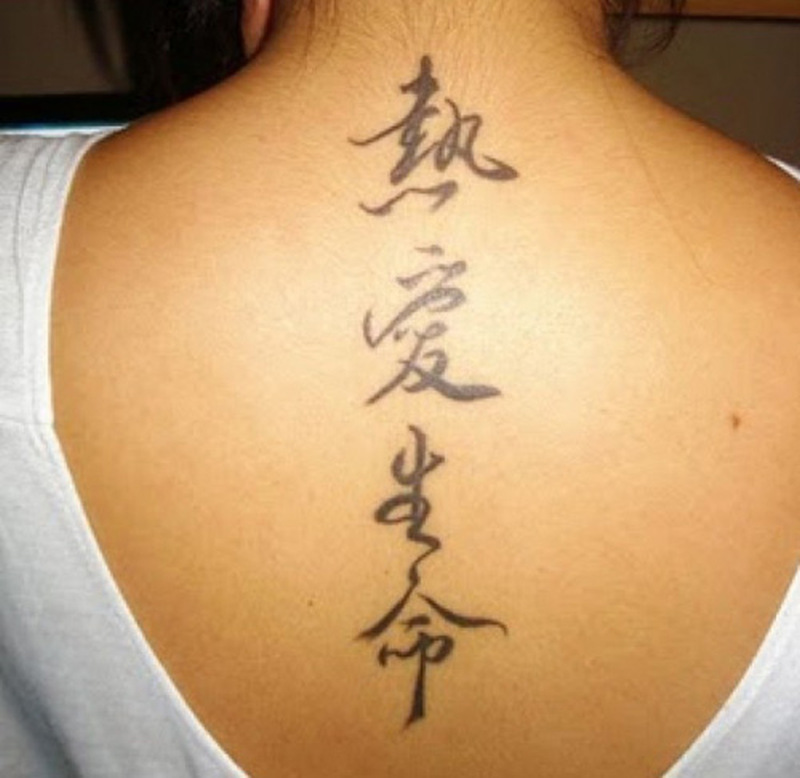 Chinese Lettering Meaning Tattoo