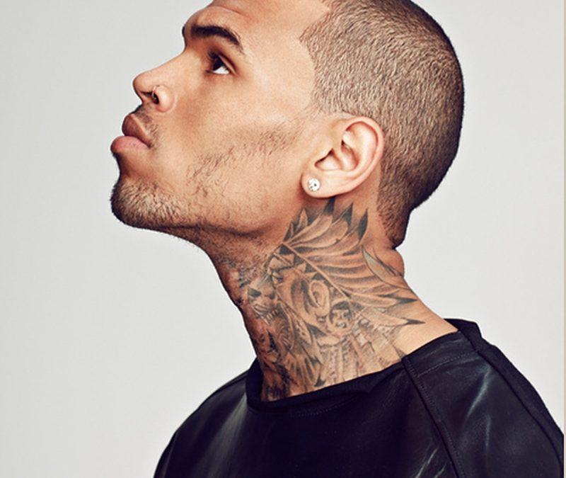 Chris Brown Neck Tattoos