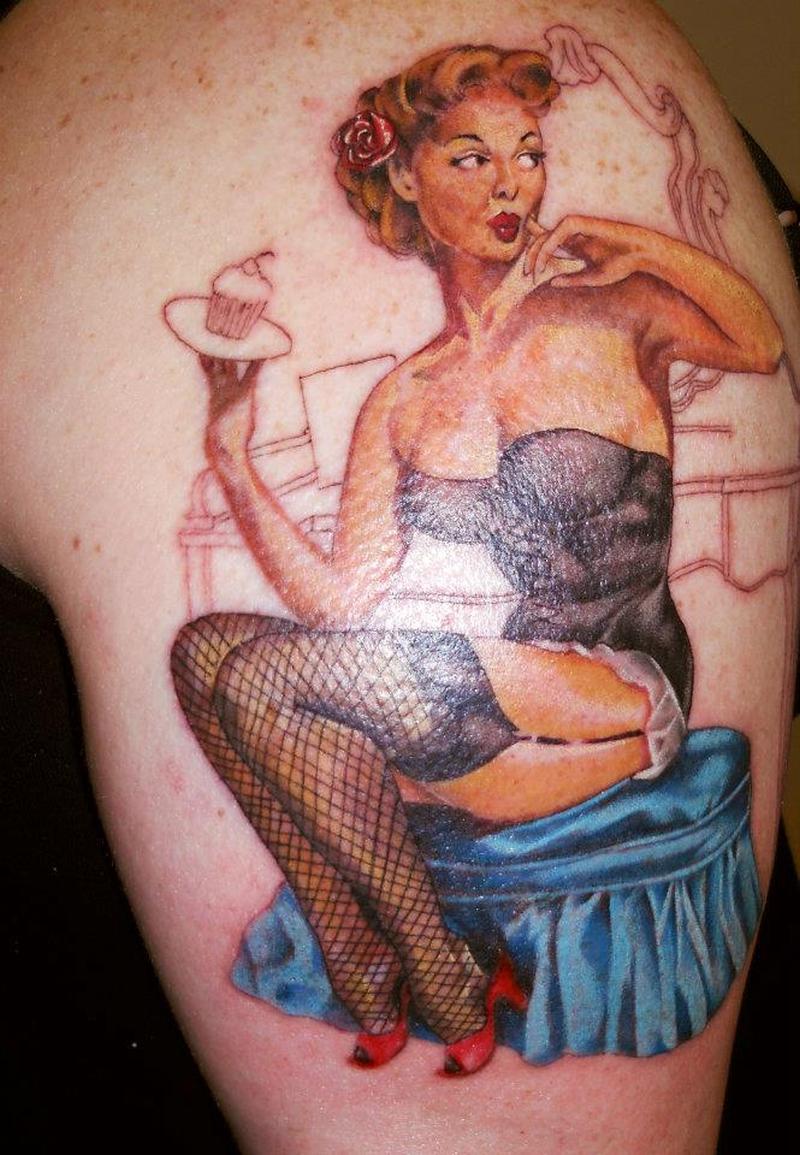 Classic Pin Up Girl Tattoos