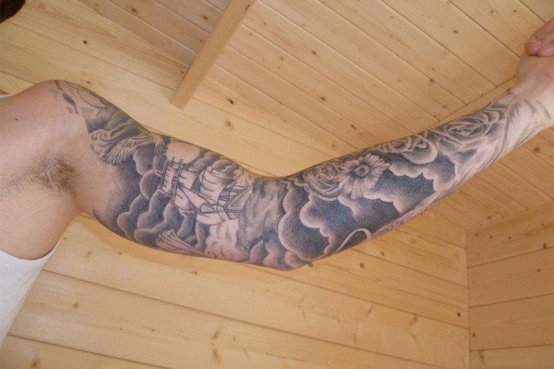 Cloud Tattoo Designs Half Sleeve
