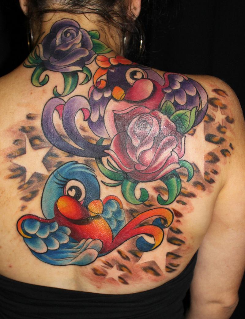 Colored Leopard Print Tattoos