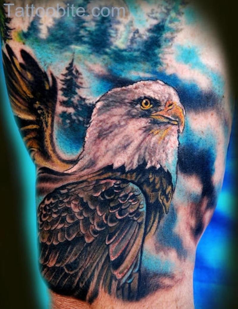 Colorful Eagle Tattoo