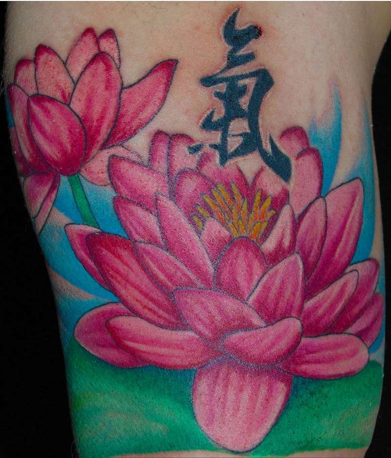 Colorful Tattoos For Girls