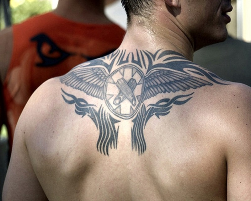 Cool Upper Back Tattoos For Guys