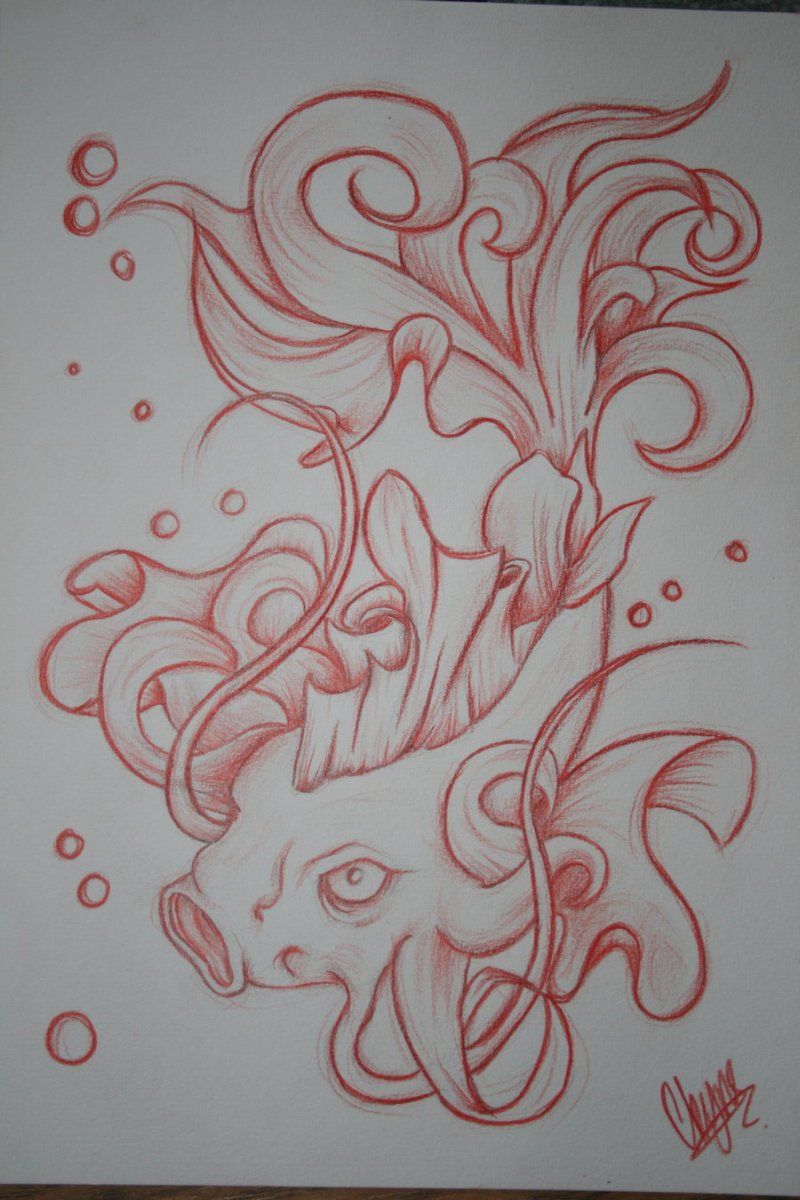 Coy Fish Tattoo Designs
