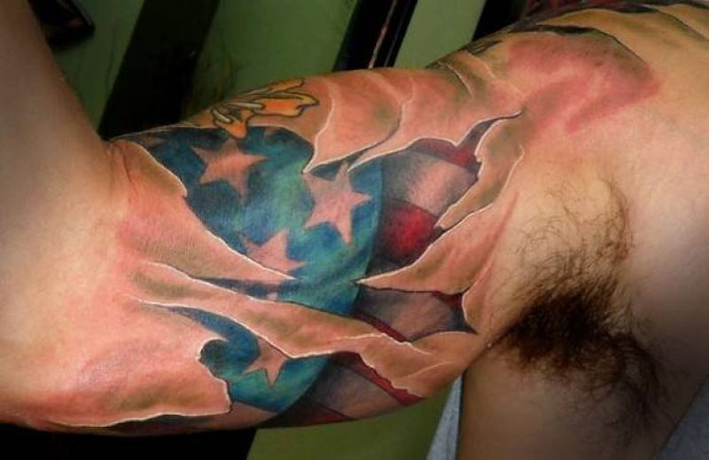 Croos With Rebel Flag Tattoos