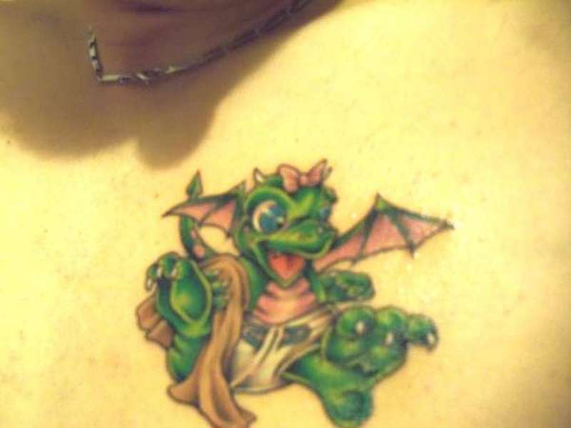 Cute baby dragon tattoos tattoos book for Baby s first tattoo book