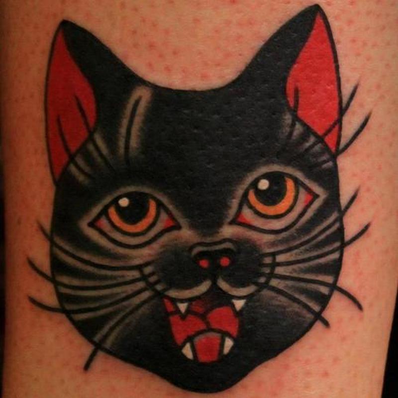 Cute black cat tattoos tattoos book tattoos designs for Black cat tattoos