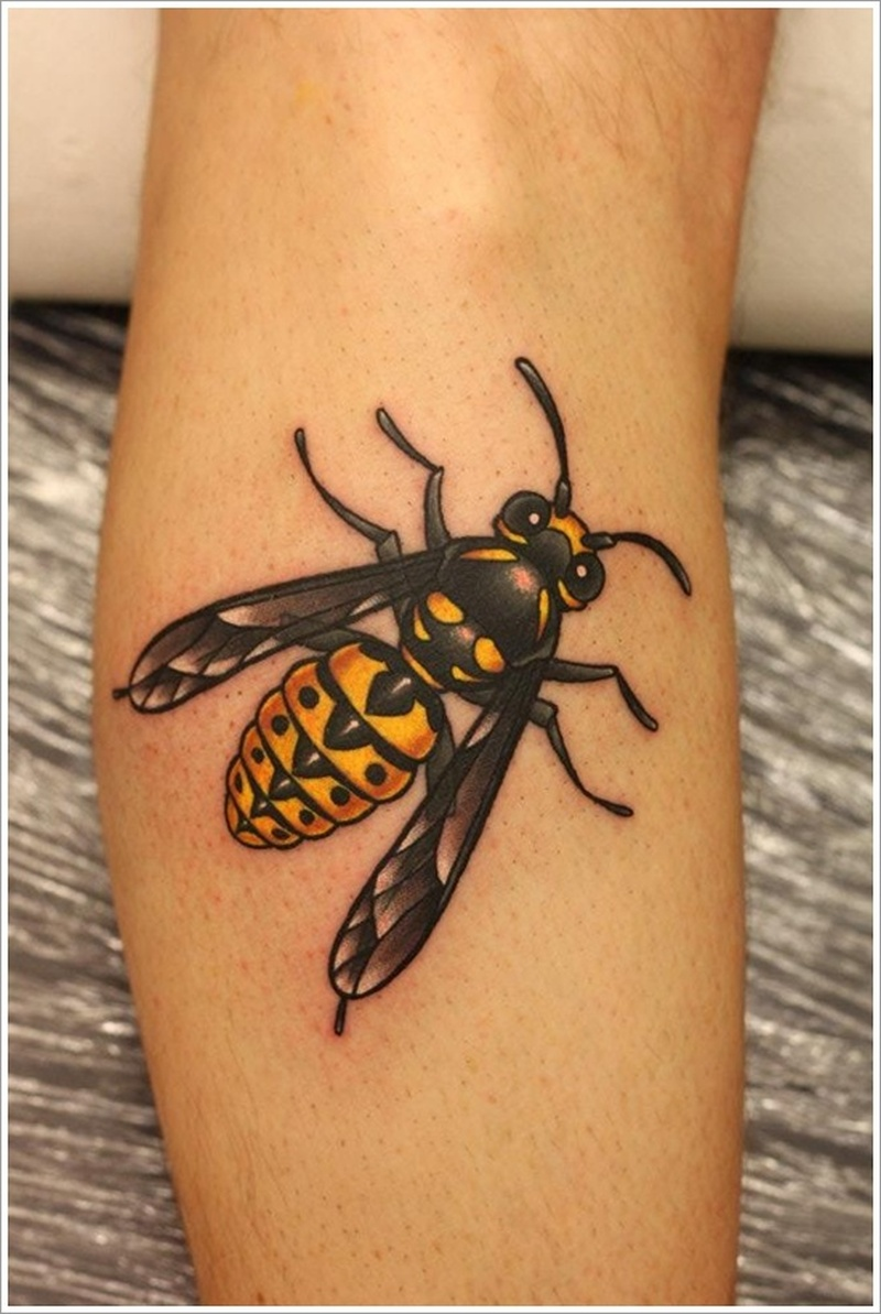 Cute Bumble Bee Tattoos