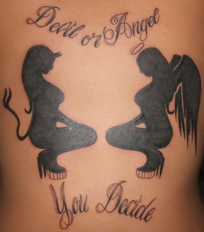 Devil Angel Tattoo 2