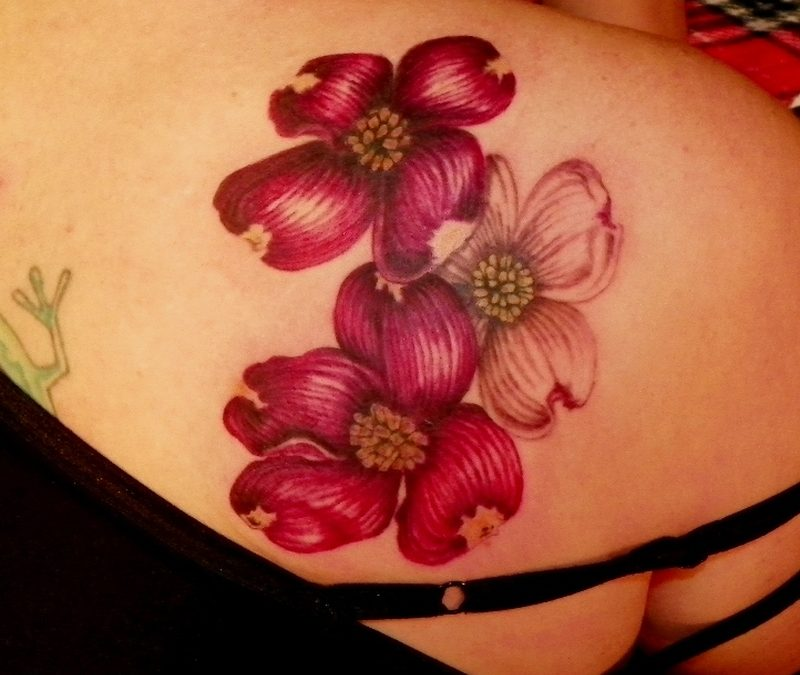 Dogwood Flower Tattoos Designs