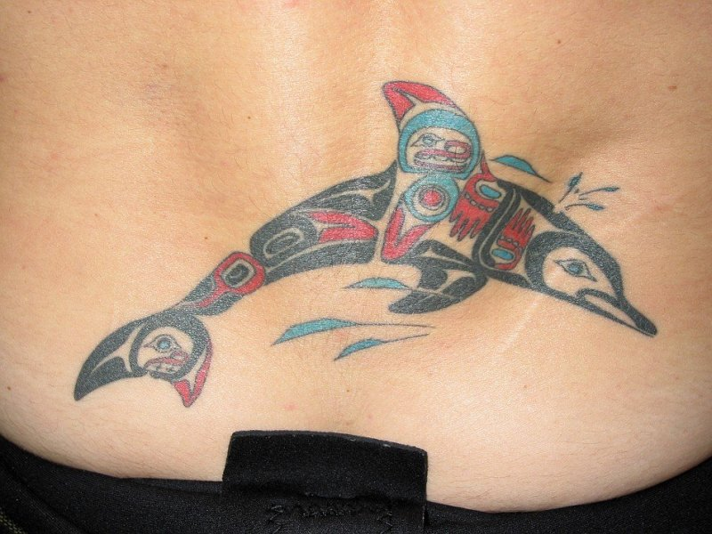 Dolphin Lower Back Tattoos
