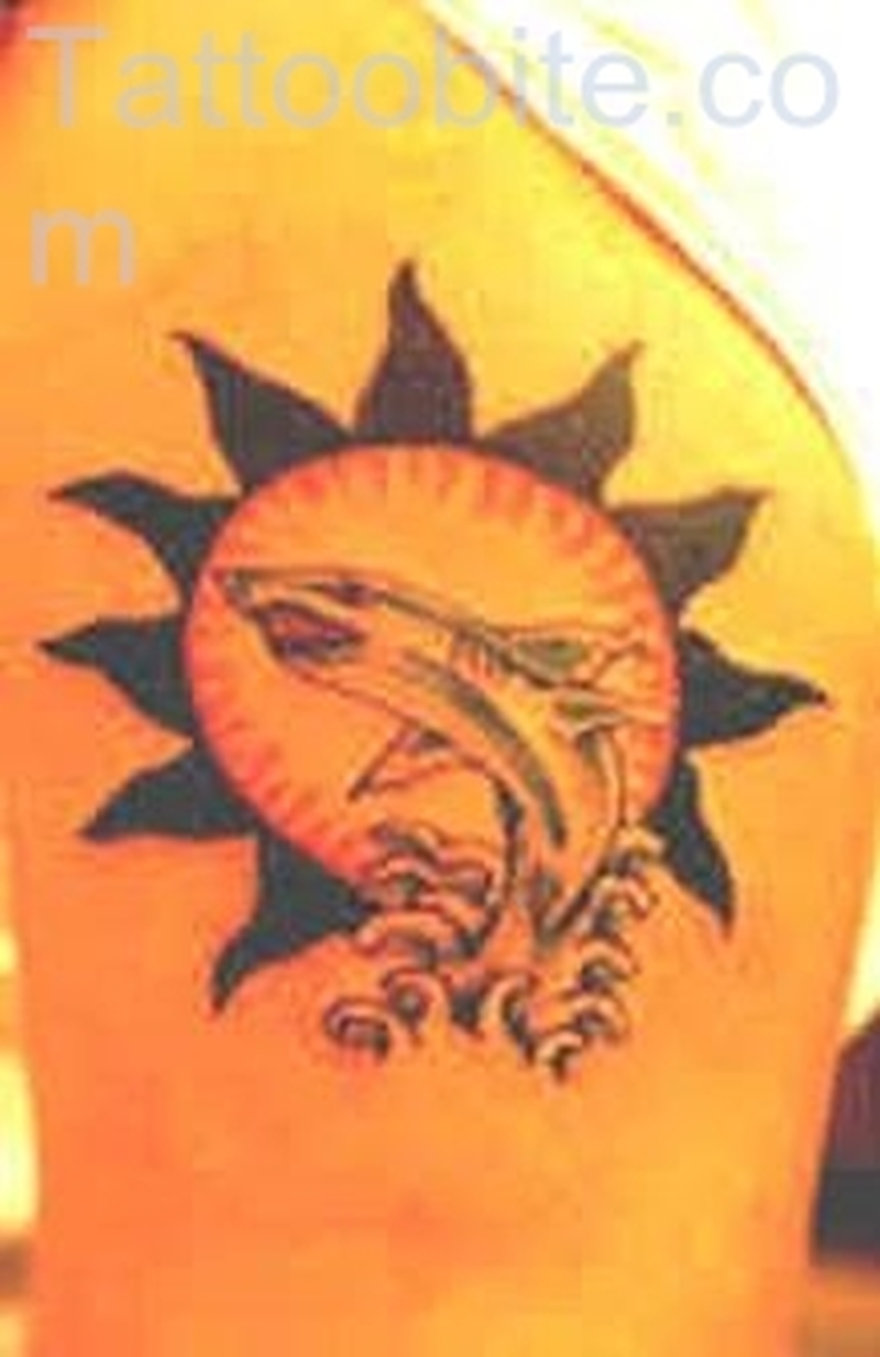 Dolphin Sun Tattoo