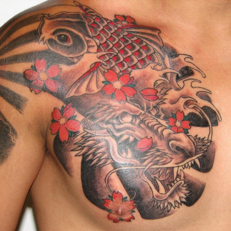 Dragon And Koi Fish Tattoos