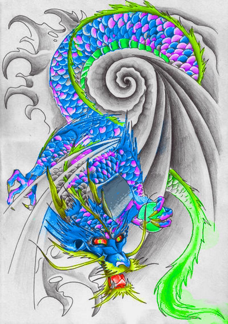 Dragon Tattoo Flash