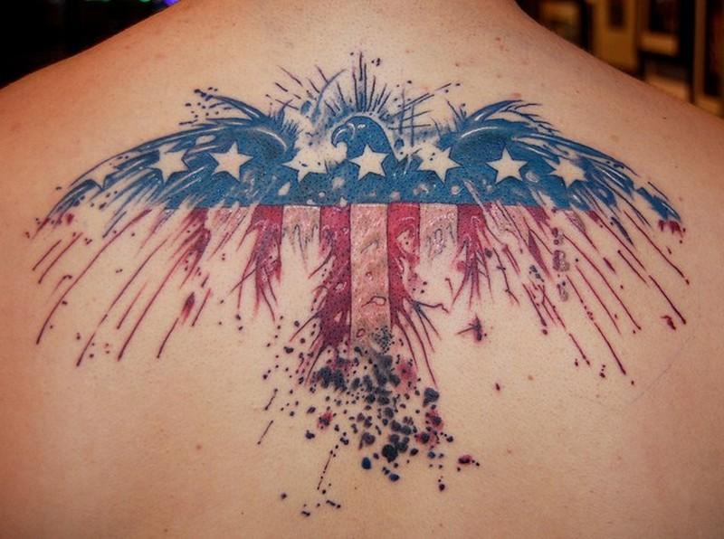 Eagle American Flag Tattoos