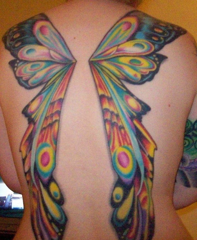 Fairy With Butterfly Wings Tattoos