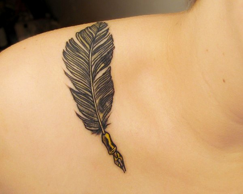 Feather Pen Tattoo