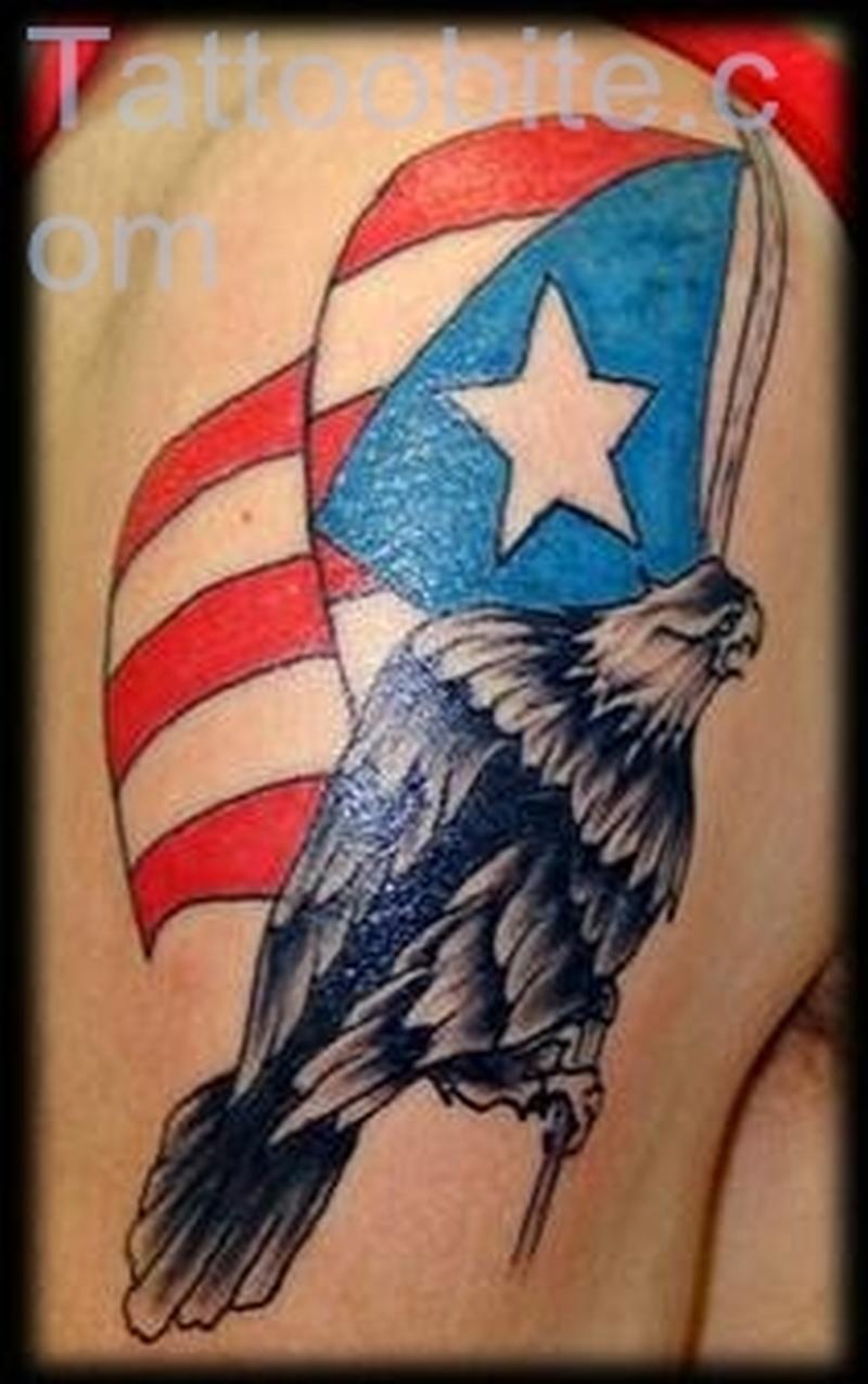 Flag And Eagle Tattoo