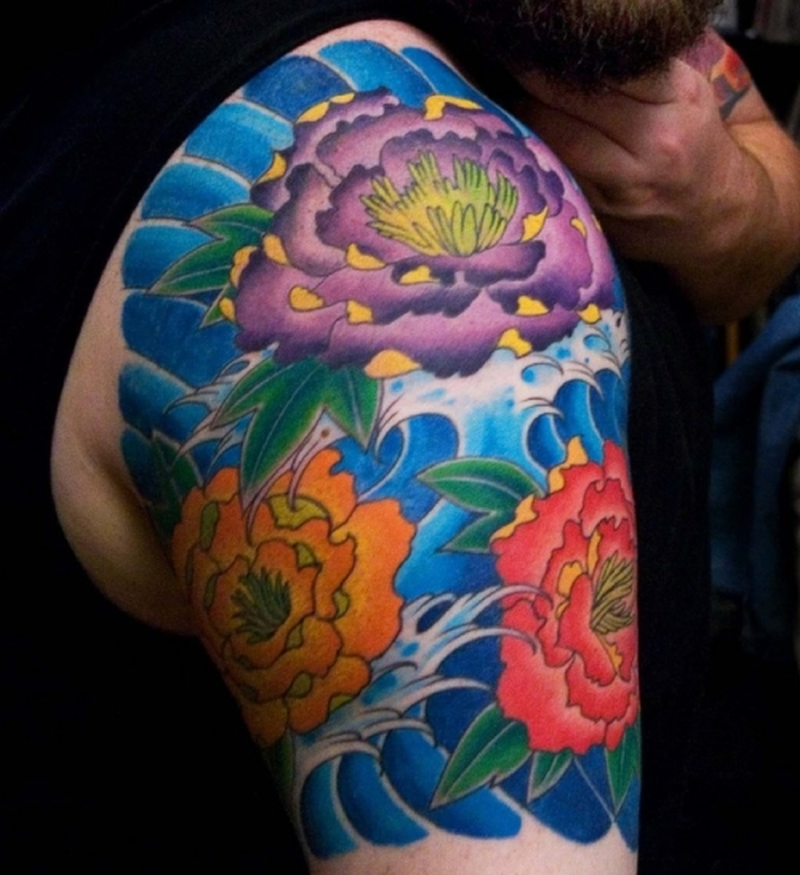 Floral Sleeve Tattoos For Men