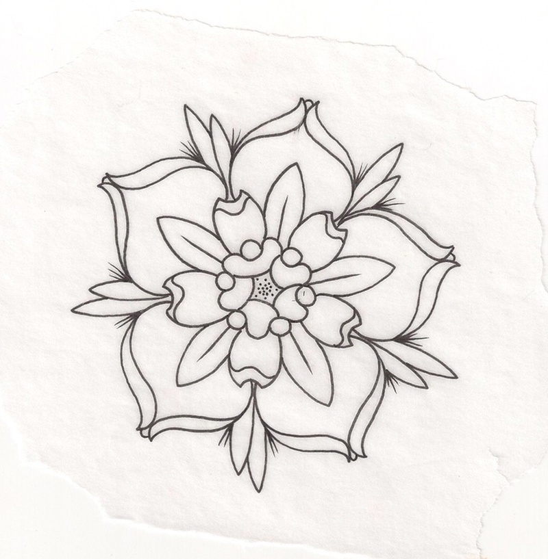 Flower Outline Tattoo Tumblr - Tattoos Book - 65.000 ...