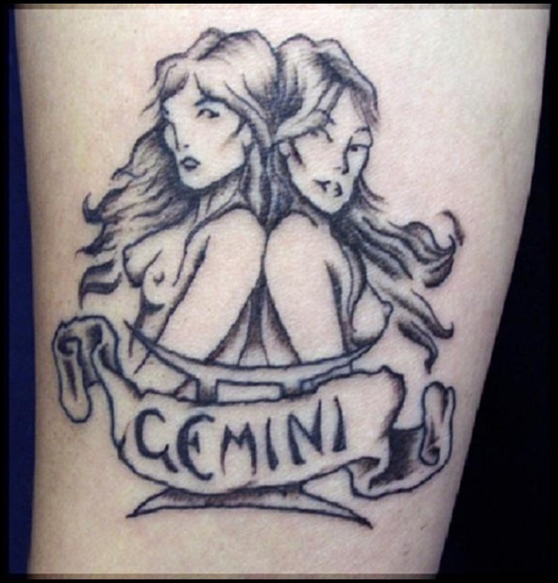 Gemini Zodiac Tattoos For Men