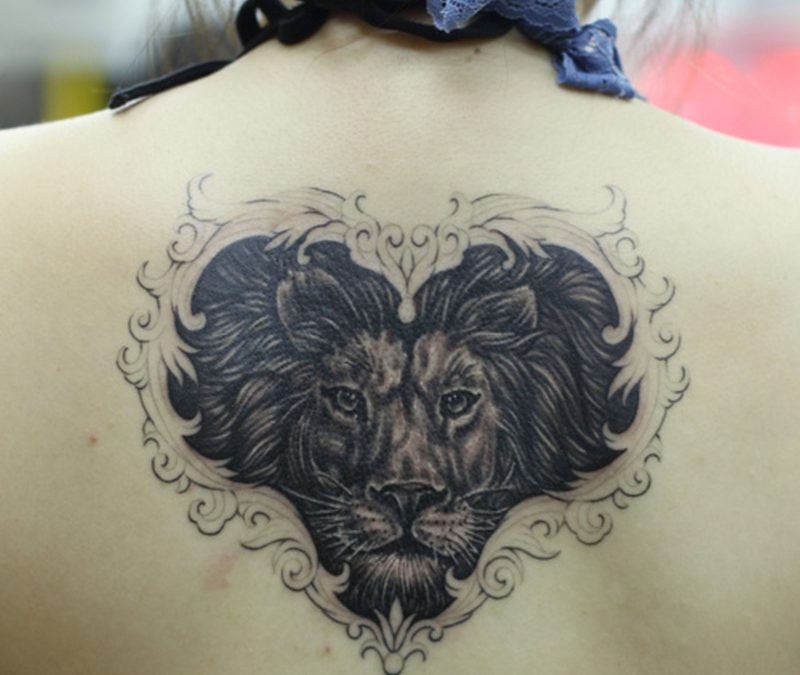 Heart Of A Lion Tattoos