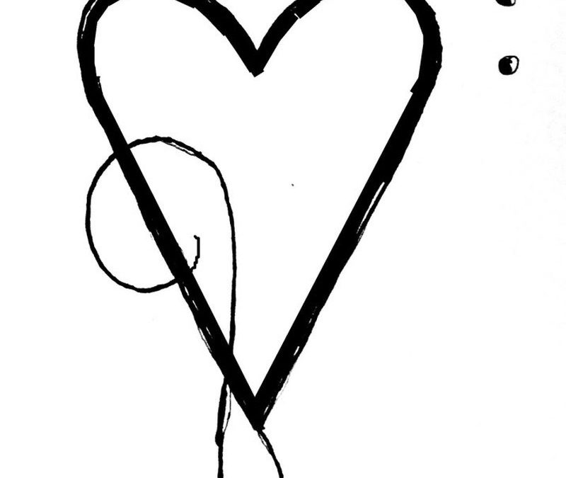 Heart With Music Notes Tattoos Designs