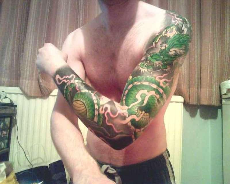 Japanese Dragon Tattoos Sleeve Designs