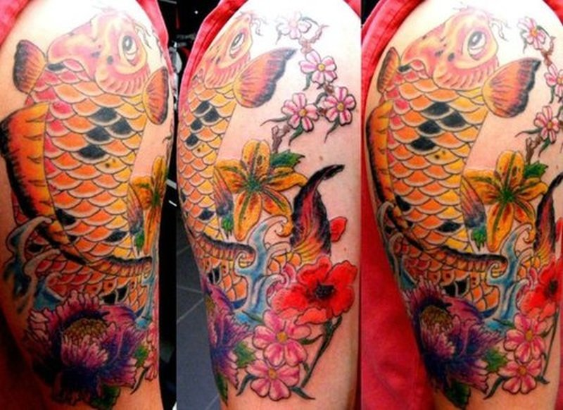 Japanese Flower Half Sleeve tattoo