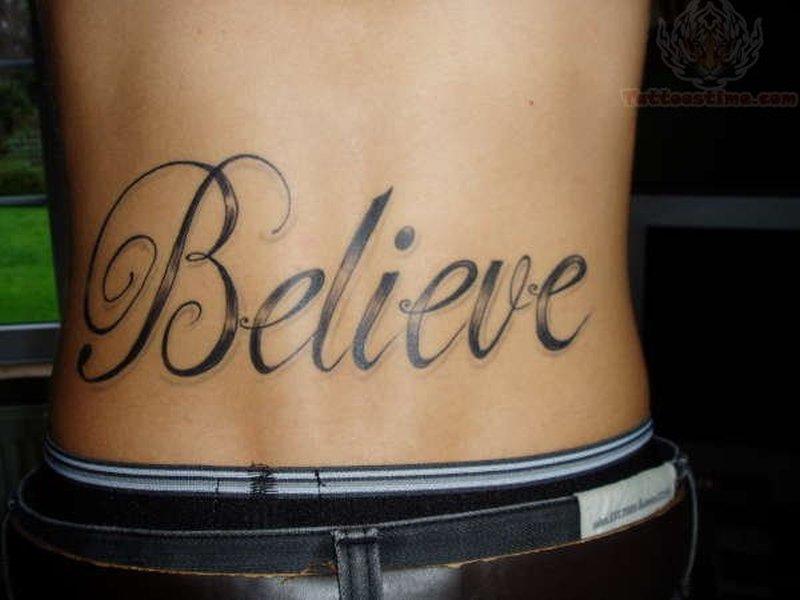 Lower Back Word Tattoos