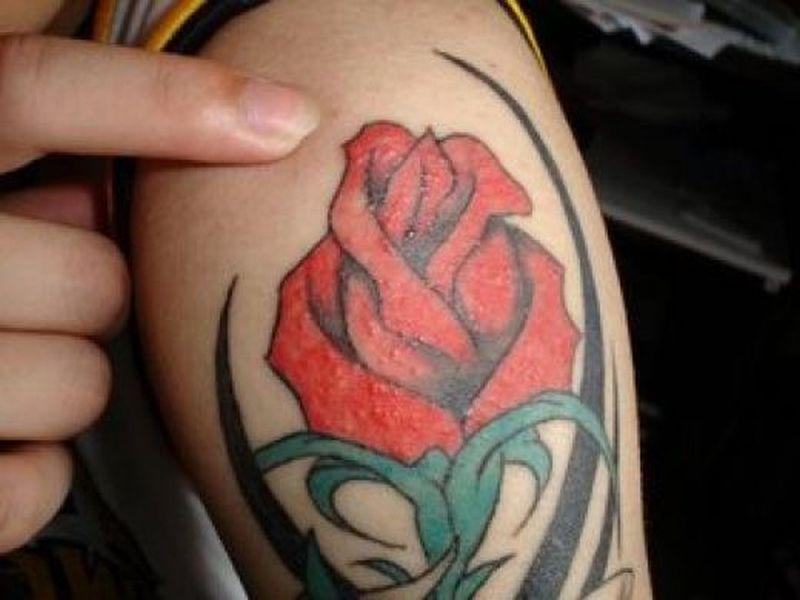 Male Flower Tattoos Designs