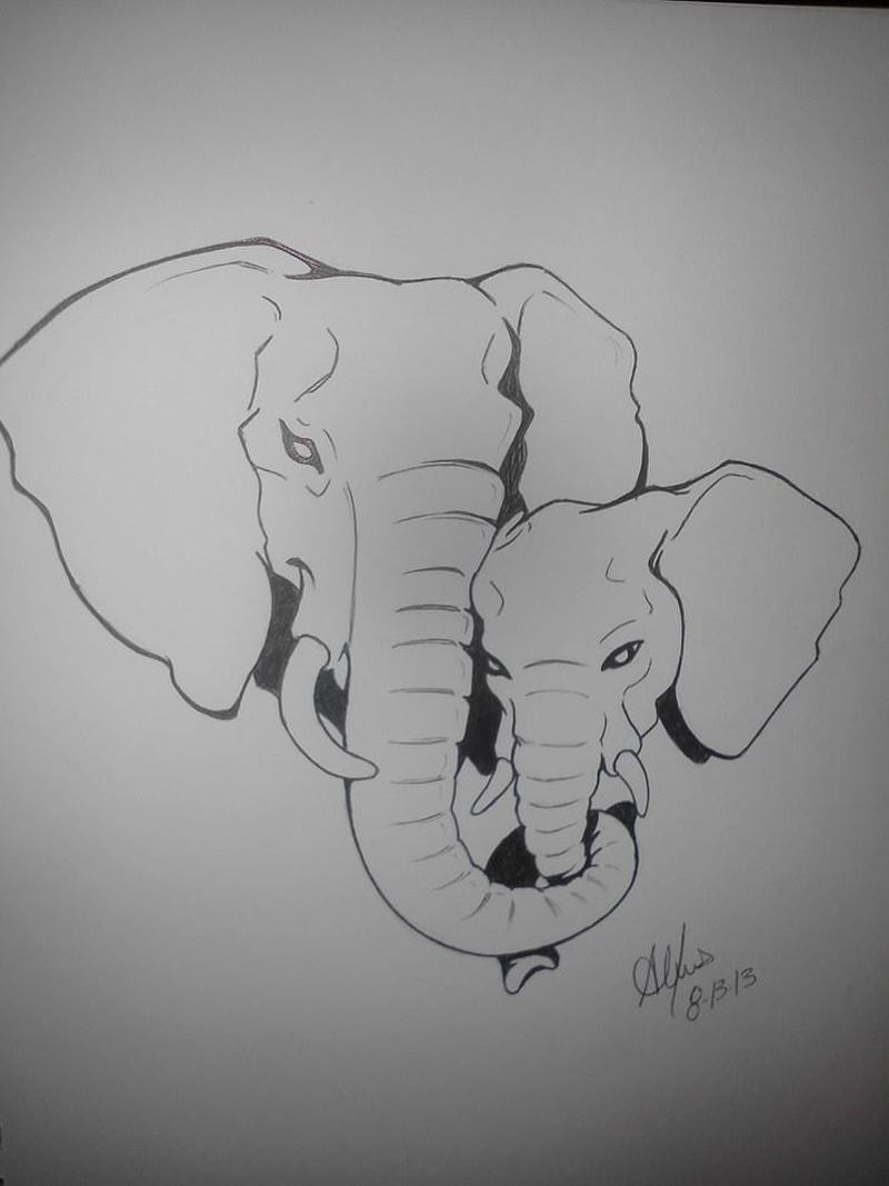 Mom And Baby Elephant Tattoo Designs