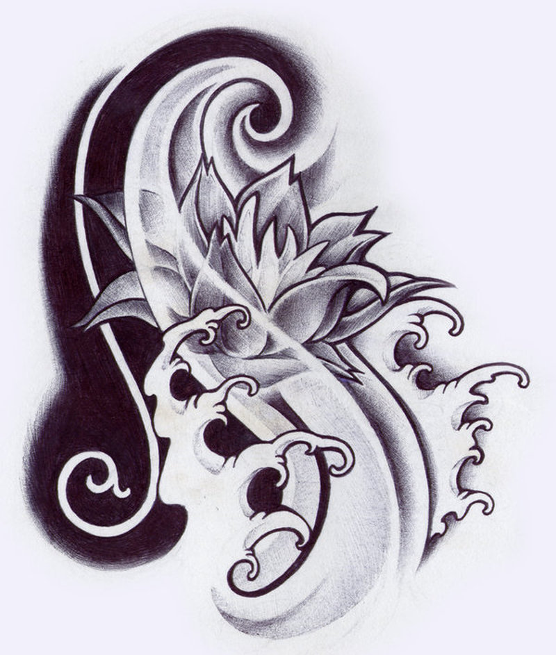 Oriental flower designs tattoo tattoos book for Oriental tattoo