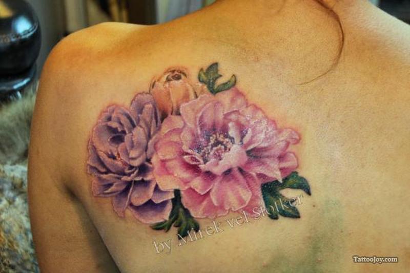 Peony Flower Tattoos Designs