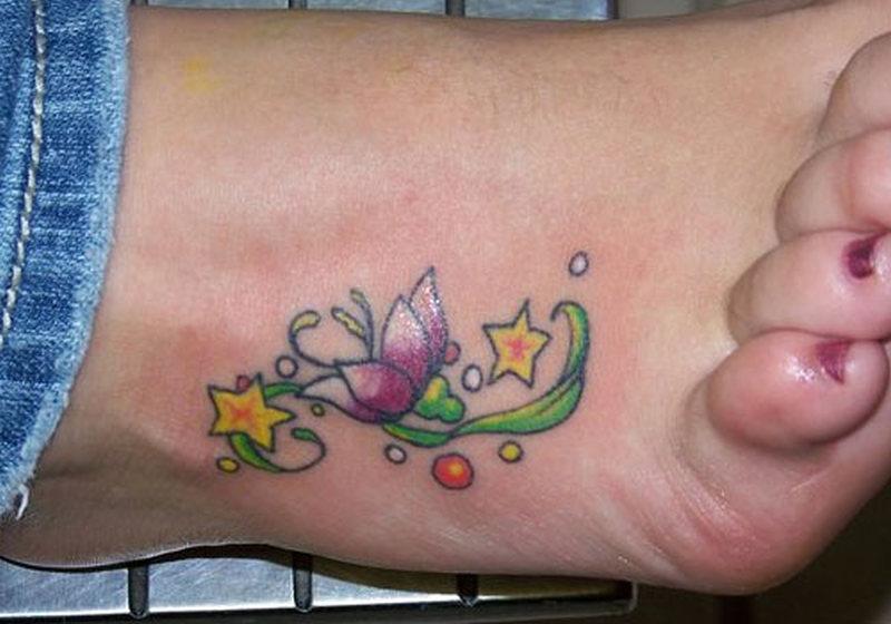 Simple Flower Ankle Tattoos Tattoos Book 65 000 Tattoos Designs