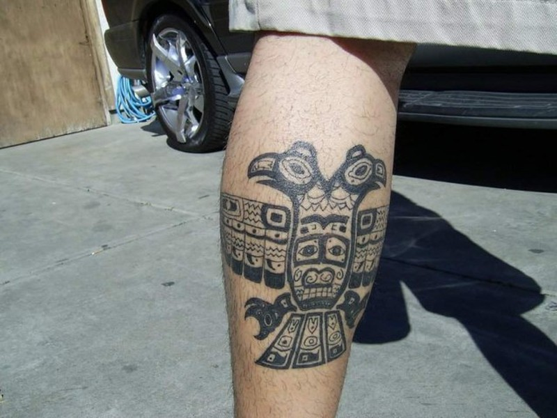 Small Aztec Calendar tattoo
