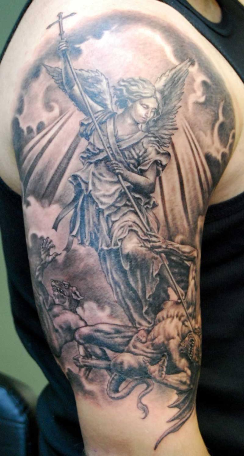 St Michael Archangel Tattoo Designs